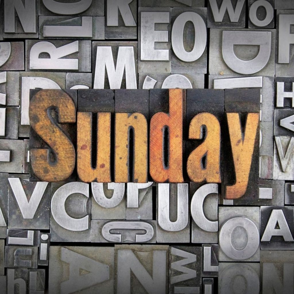 Sundays and a placeholder about Kesgrave Baptist church